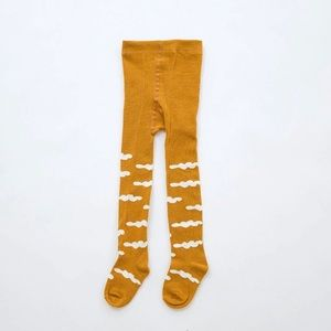 Other - Baby tights gold creme clouds 0-12, 12-24 mo.